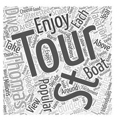 Guided Tours in St Thomas Word Cloud Concept vector