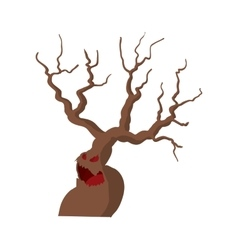 Halloween scary tree icon cartoon style vector