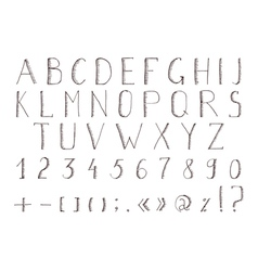 Hand drawn alphabet abc font alphabet vector