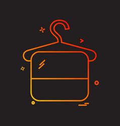 hanger icon design vector image