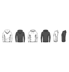 hoodie mockup trendy casual clothes unisex sport vector image