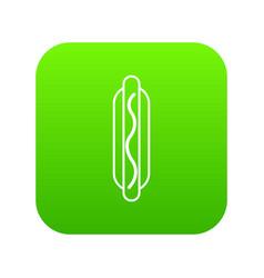 hot dog icon green vector image