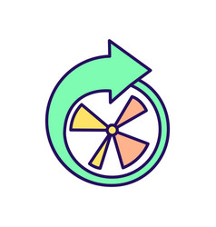 Intermittent fasting periods rgb color icon vector