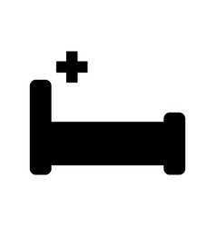 isolated hospital bed icon vector image