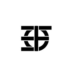 Letter e f monogram logo designs inspiration vector