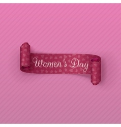March 8 Womens Day pink festive Ribbon vector image