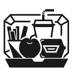 mix lunchbox icon simple style vector image