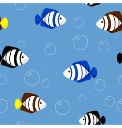 pattern with fish vector image