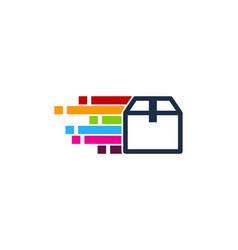 pixel art box logo icon design vector image