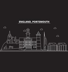 Portsmouth silhouette skyline great britain vector