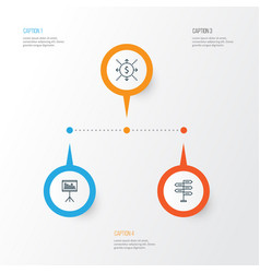 Project icons set collection opportunity vector