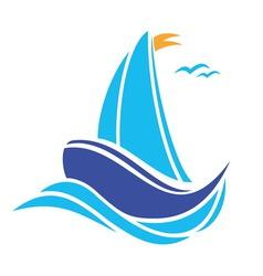 sailingboat1 resize vector image