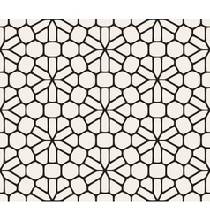 Seamless black and white rounded lace vector