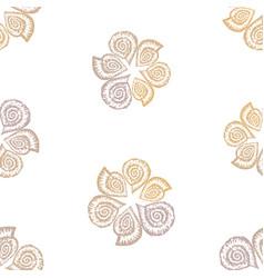 seamless pattern decorative drawn nautilus vector image