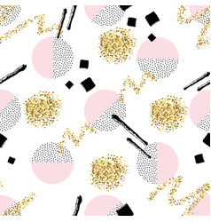 seamless pattern with round dotted circles golden vector image