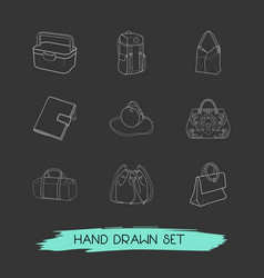 Set of accessory icons line style symbols with vector