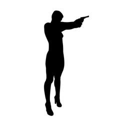 shooting girl silhouette vector image