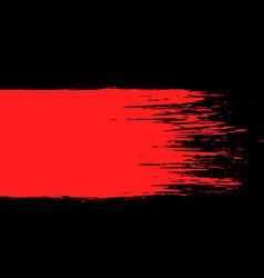 Smear red paint on a black background vector