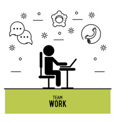 teamwork icons design vector image
