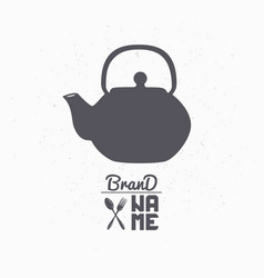 Teapot hand drawn silhouette vector