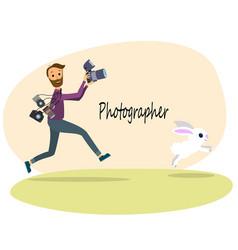 The photographer vector