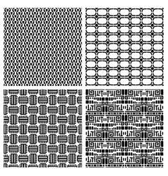 Tribal fashion primitive seamless patterns vector