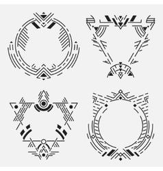 Tribal frame set vector