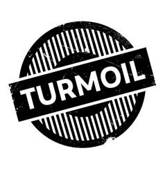 Turmoil rubber stamp vector