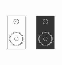 two speakers vector image