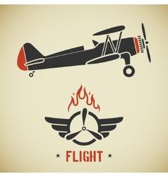 Vintage plane vector
