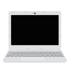 white laptop screen notebook in flat style vector image