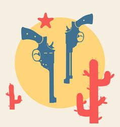 wild west symbol vector image