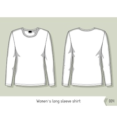 Women long sleeve shirt Template for design vector