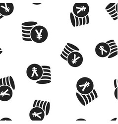 Yen yuan money currency icon seamless pattern vector