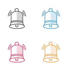 Christmas bell dotted style vector
