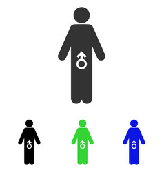 male potence flat icon vector image vector image