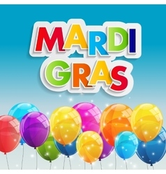 Mardi gras party holiday poster background vector