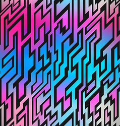 neon geometric seamless pattern vector image