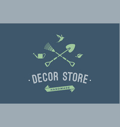 Logo of hand made decor store vector