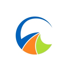 Round business logo vector