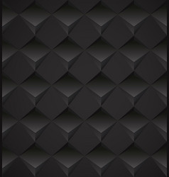 seamless dark background with polygonal pattern vector image vector image