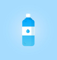 bottle of water on a blue background vector image