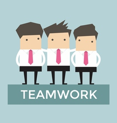 Businessman teamwork vector image