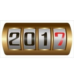Concept New Year 2017 vector image
