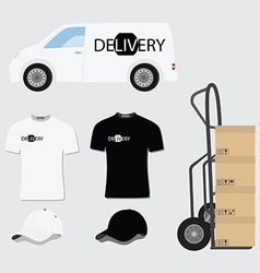 Delivery company design vector image