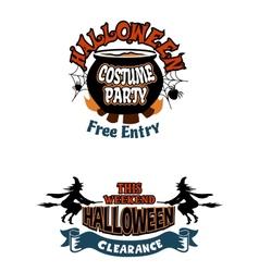 Halloween holiday invitations vector