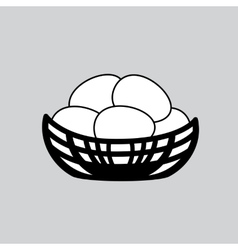 nest simple icon vector image vector image