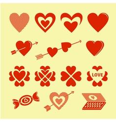 Symbols of love vector image vector image