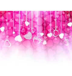 valentines day card template eps 8 vector image vector image