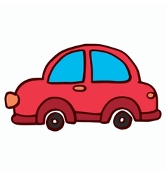 Cartoon Car on White Background t-shirt design vector image vector image